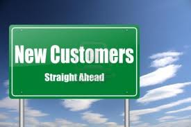New Customers Straight ahead