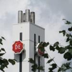 Stockfoto, DE schoorsteen in Utrecht