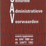 Uniforme Administratieve Voorwaarden integrale editie 1995 paperback | Nederlands | 1995
