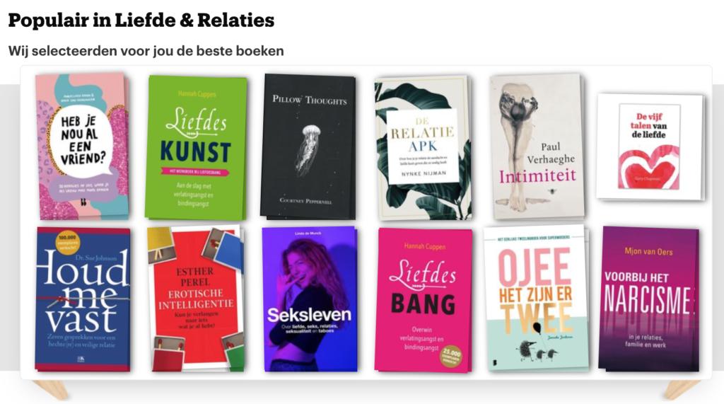 TOP12 Populaire boeken over Liefde & Relaties